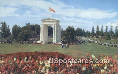 International Peace Arch - Blaine, Washington WA Postcard