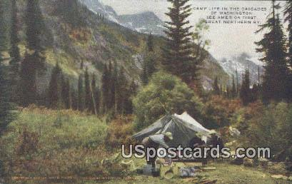 Camp Life - Great Northern Railway, Washington WA Postcard