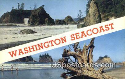 Pacific Ocean Seacoast, Washington Postcard     ;      Pacific Ocean Seacoast, WA