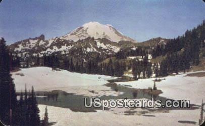 Mount Rainier - Tipsu Lake, Washington WA Postcard