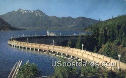 Chusman Dam NO 1 - Olympic Mountains, Washington WA Postcard