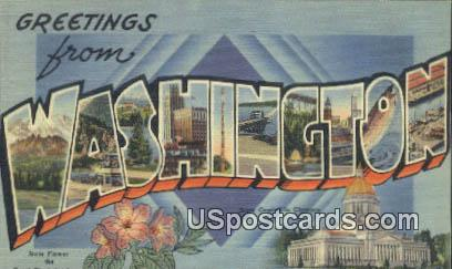 Greetings from, Washington Postcard     ;      Greetings from, WA