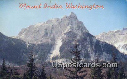 Mt Index, WA Postcard      ;      Mt Index, Washington