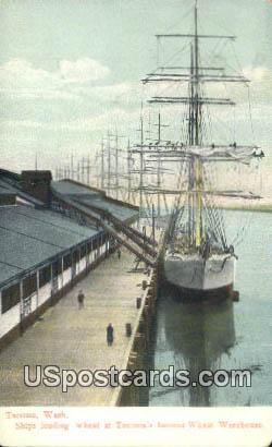 Ships, Wheat Warehouse - Tacoma, Washington WA Postcard