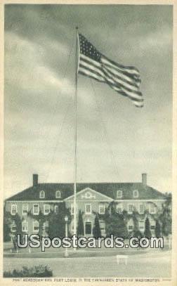 Post Headquarters - Fort Lewis, Washington WA Postcard