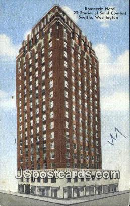 Roosevelt Hotel - Seattle, Washington WA Postcard