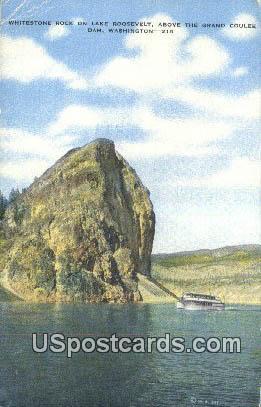 Whitestone Rock - Grand Coulee Dam, Washington WA Postcard