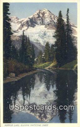 Mirror Lake - Rainier National Park, Washington WA Postcard