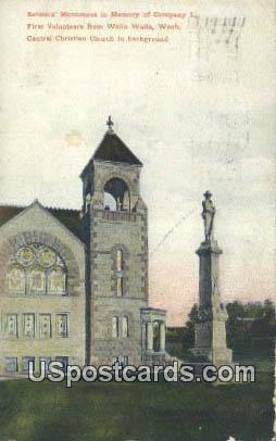 Soldiers' Monument - Walla Walla, Washington WA Postcard