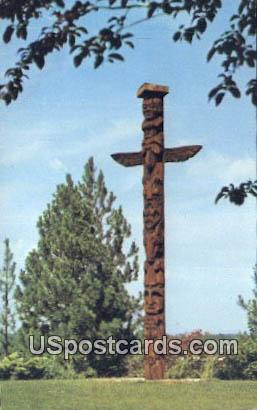 Totem - Spokane, Washington WA Postcard