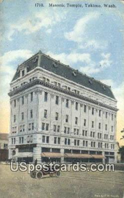 Masonic Temple - Yakima, Washington WA Postcard