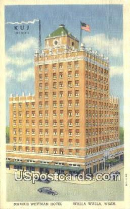 Marcus Whitman Hotel - Walla Walla, Washington WA Postcard