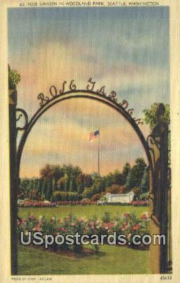 Rose Garden, Woodland Park - Seattle, Washington WA Postcard
