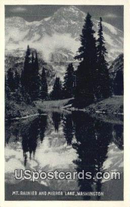 Mount Rainier - Mirror Lake, Washington WA Postcard