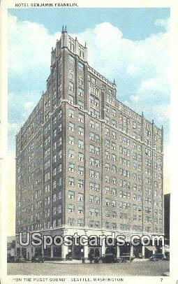 Hotel Benjamin Franklin - Seattle, Washington WA Postcard