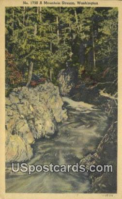 Mountain Stream - Misc, Washington WA Postcard