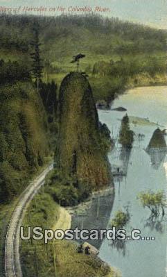 Pillars of Hercules - Columbia River, Washington WA Postcard