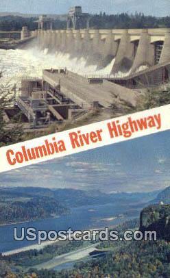 Bonneville Dam, Washington Postcard     ;      Bonneville Dam, WA