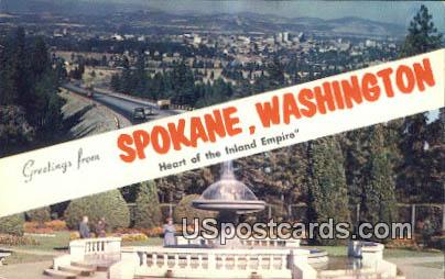 Spokane, Washington Postcard     ;      Spokane, WA
