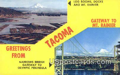 Gateway to Mt Rainier - Tacoma, Washington WA Postcard