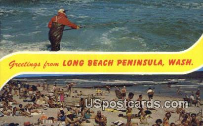 Long Beach Peninsula, Washington Postcard     ;      Long Beach Peninsula, WA