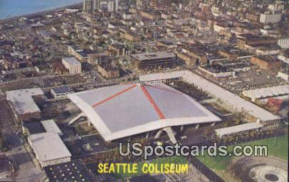 Seattle Coliseum - Washington WA Postcard