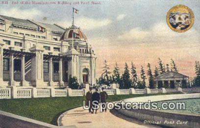 Exposition Seattle 1909 Manufacturers Building - Washington WA Postcard