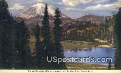 Mt Rainier - Tipsoo Lake, Washington WA Postcard