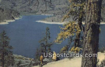Omak Lake, WA Postcard      ;      Omak Lake, Washington