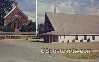 St Mary's Catholic Church - Long Beach, Washington WA Postcard