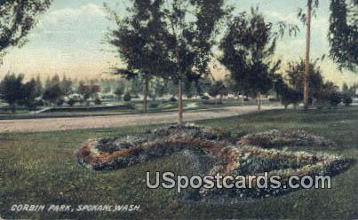 Corbin Park - Spokane, Washington WA Postcard
