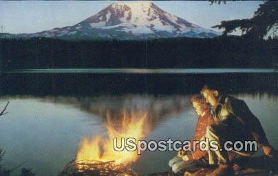 Mt Adams - Takhlaka Lake, Washington WA Postcard