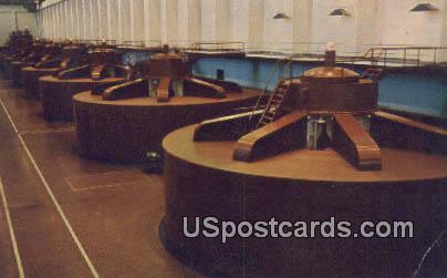 West Powerhouse - Grand Coulee Dam, Washington WA Postcard
