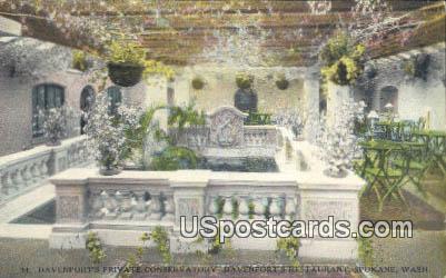 Davenports Private Conservatory - Spokane, Washington WA Postcard