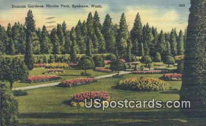Duncan Gardens, Manito Park - Spokane, Washington WA Postcard