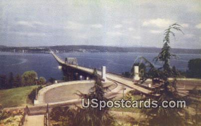 Lake Washington Pontoon Bridge - Seattle Postcard