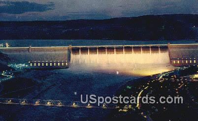 Grand Coulee Dam, Washington Postcard     ;      Grand Coulee Dam, WA