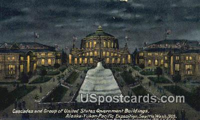 Cascades, Government Building - Seattle, Washington WA Postcard