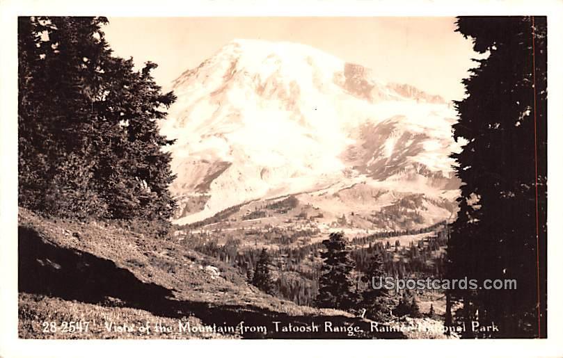Vista of Mountain from Tatoosh Ranch - Rainier National Park, Washington WA Postcard