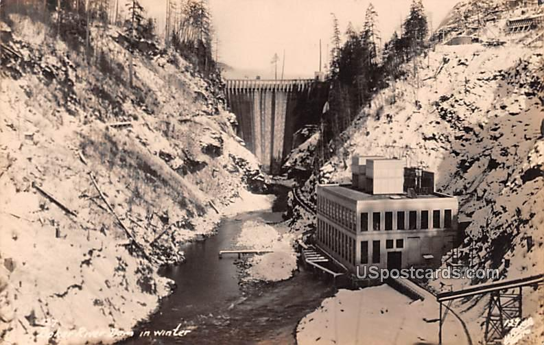 Baker River Dam - Rockport, Washington WA Postcard