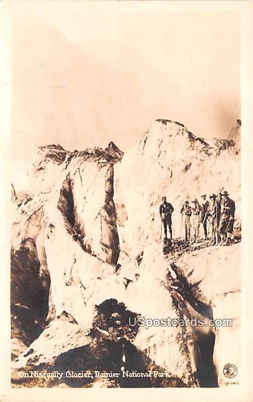 Nisqually Glacier - Rainier National Park, Washington WA Postcard