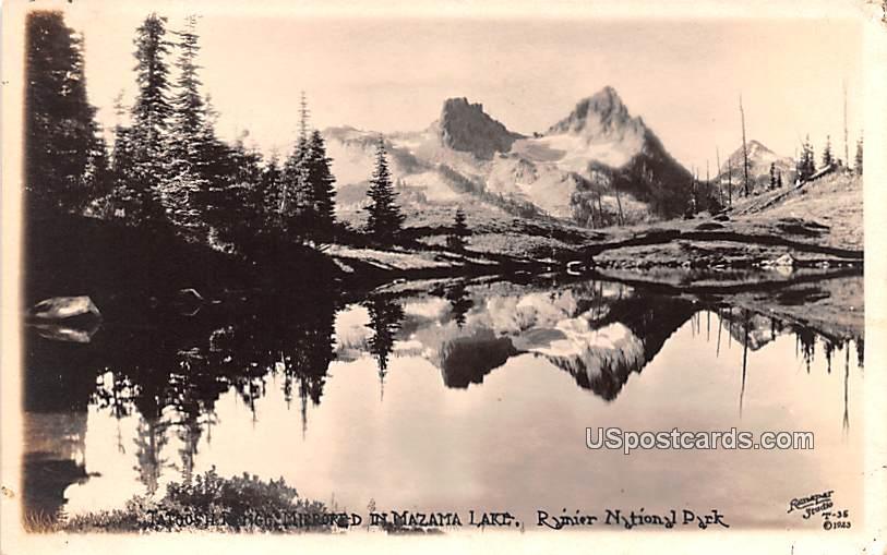 Mazama Lake - Rainier National Park, Washington WA Postcard