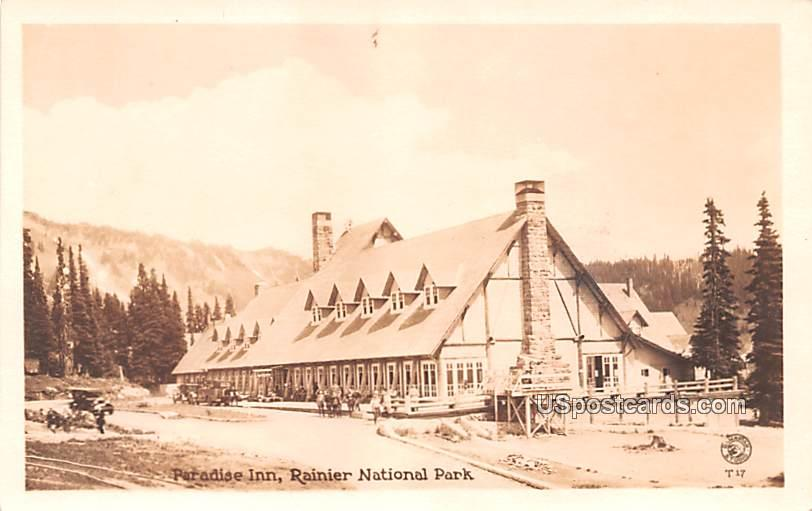 Paradise Inn - Rainier National Park, Washington WA Postcard