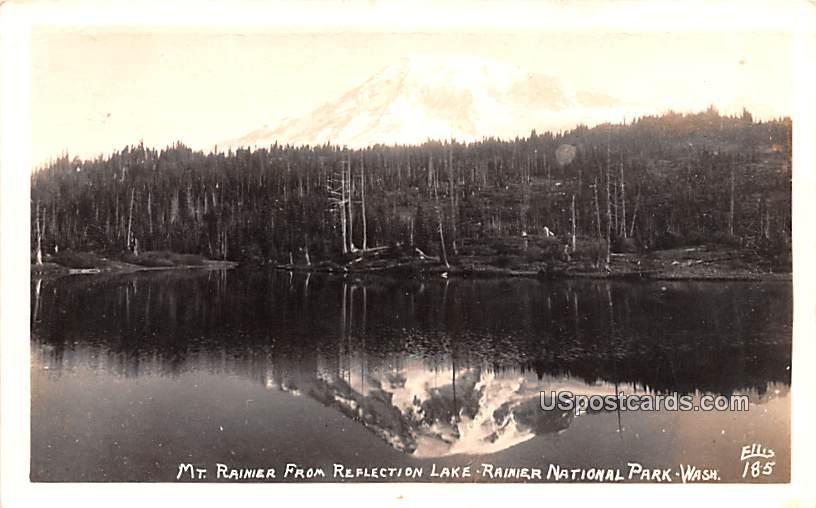 From Reflection Lake - Rainier National Park, Washington WA Postcard