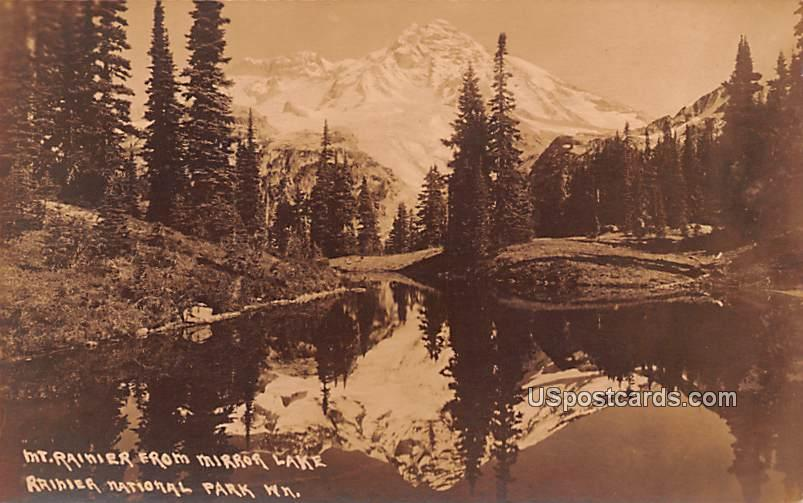 Mount Rainier - Rainier National Park, Washington WA Postcard