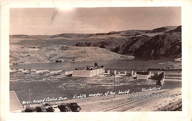 Grand Coulee Dam - Shacketford, Washington WA Postcard