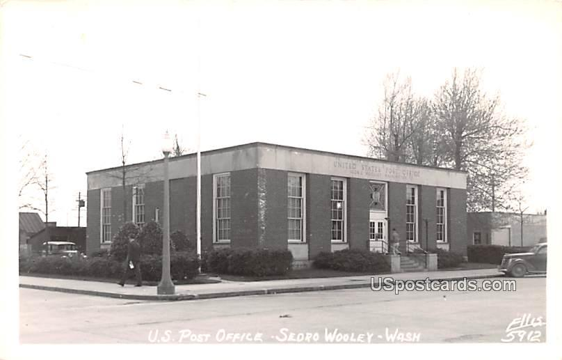 US Post Office - Sedro Wooley, Washington WA Postcard