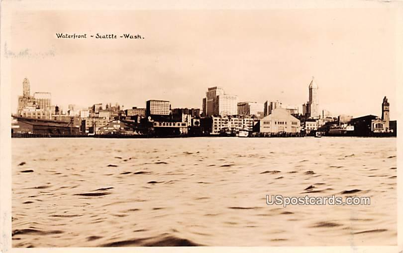 Waterfront - Seattle, Washington WA Postcard