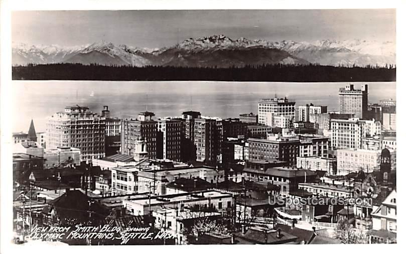 View from Smith Building - Seattle, Washington WA Postcard