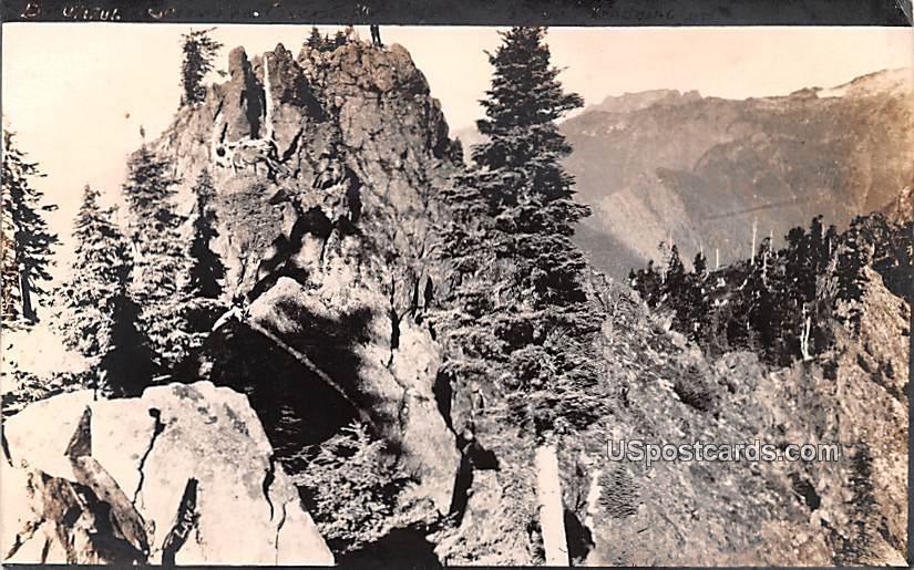 Cascade Range - Slartey, Washington WA Postcard